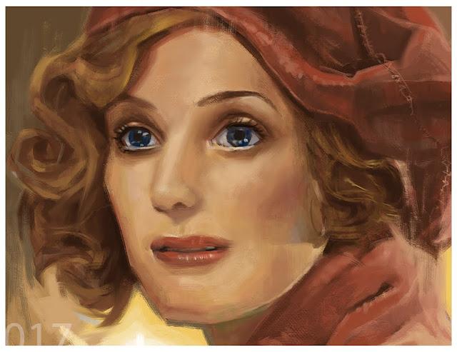close up of painting queenie goldstein