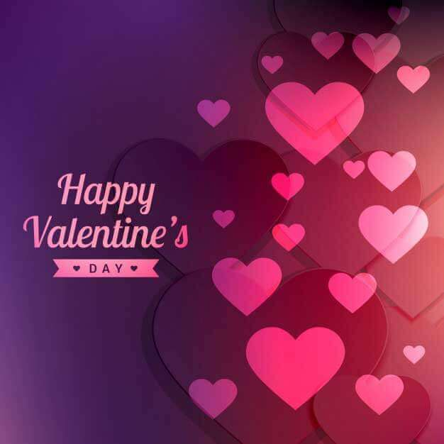 valentines background with pink hearts