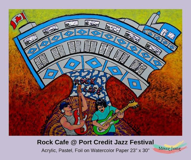 Rock Cafe at Port Credit Jazz Festival by Minaz Jantz