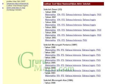 Latihan Ujian Sekolah Secara Online