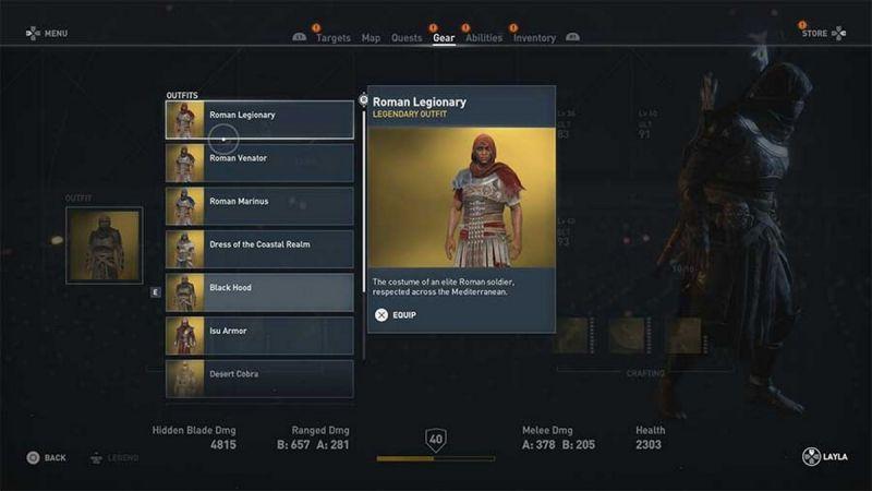 Легендарные костюмы Assassin's Creed Origins