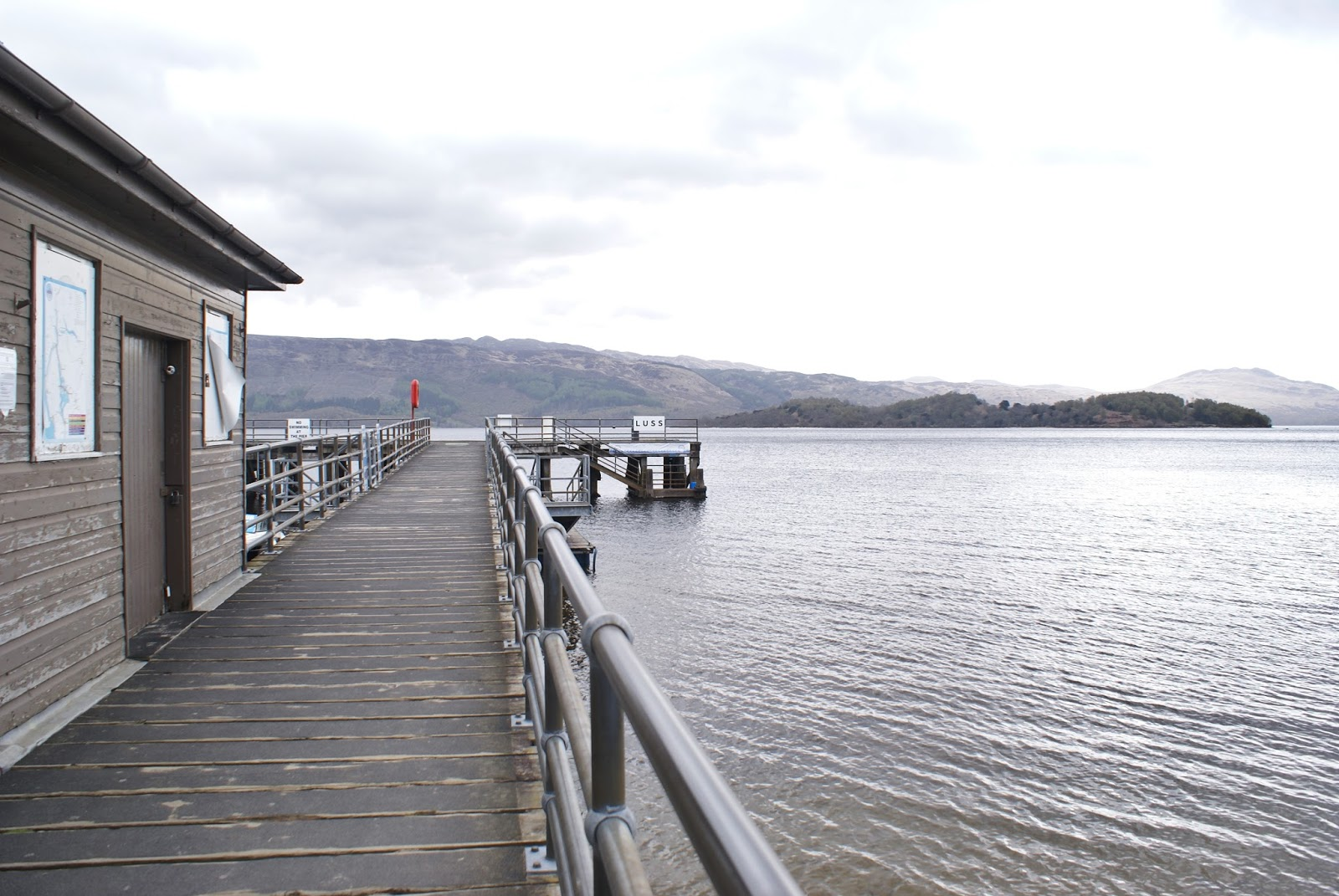 luss pier loch lomond scotland uk