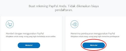 Cara Mudah Daftar Paypal Langkah 2
