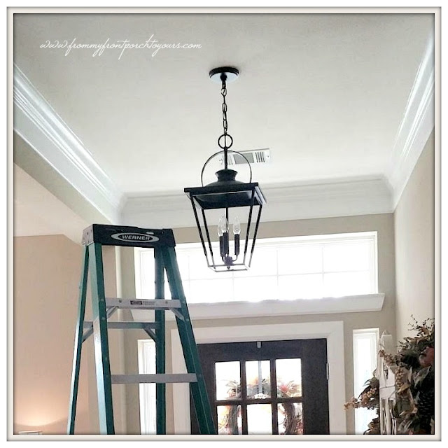 Farmhouse Entryway Chandelier: From My Front Porch To Yours: Farmhouse Foyer & Big Plans