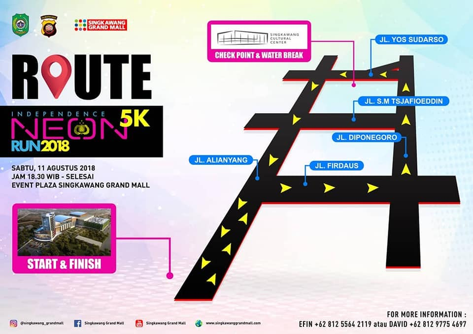 Independence 5K Neon Run Route 2018