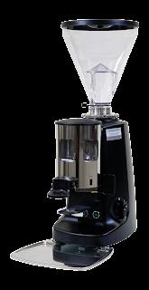 Black coffee grinder with coffee bean hopper