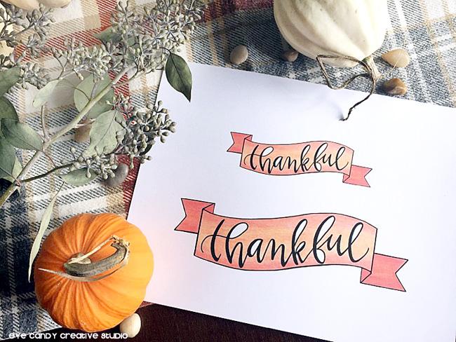 thankful banner, thanksgiving freebie, free thanksgiving art, pie topper