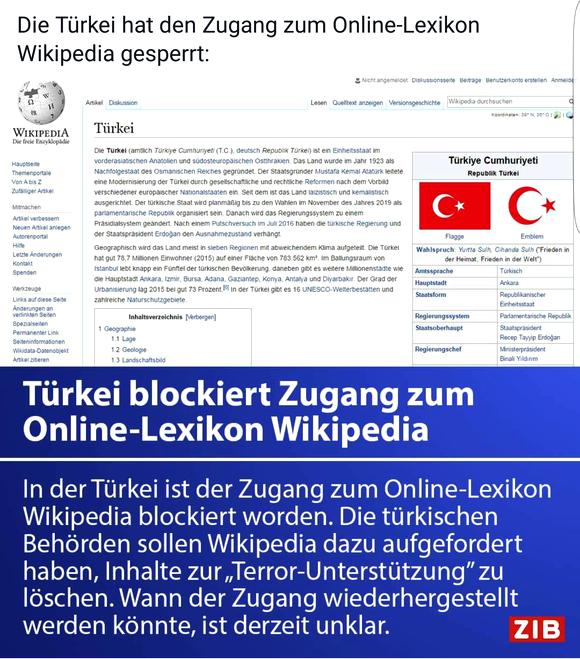 INTERNETZENSUR: Türkei sperrt Zugang zu Wikipedia