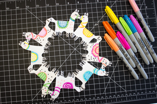 How to cut super adorable llama snowflakes- such a fun and cute winter kids craft