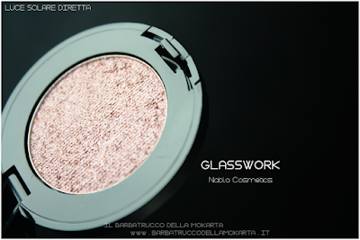 GLASSWORK review eyeshadow ombretto  goldust collection Nabla cosmetics