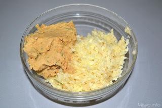 خليط البطاطس والحمص والتوابل