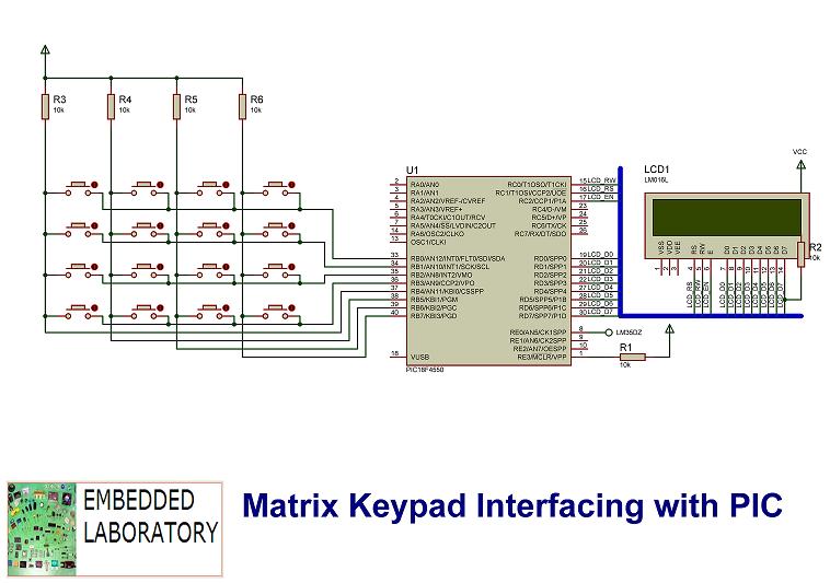 Matrix Keypad Interfacing with Microchip PIC - Embedded Laboratory