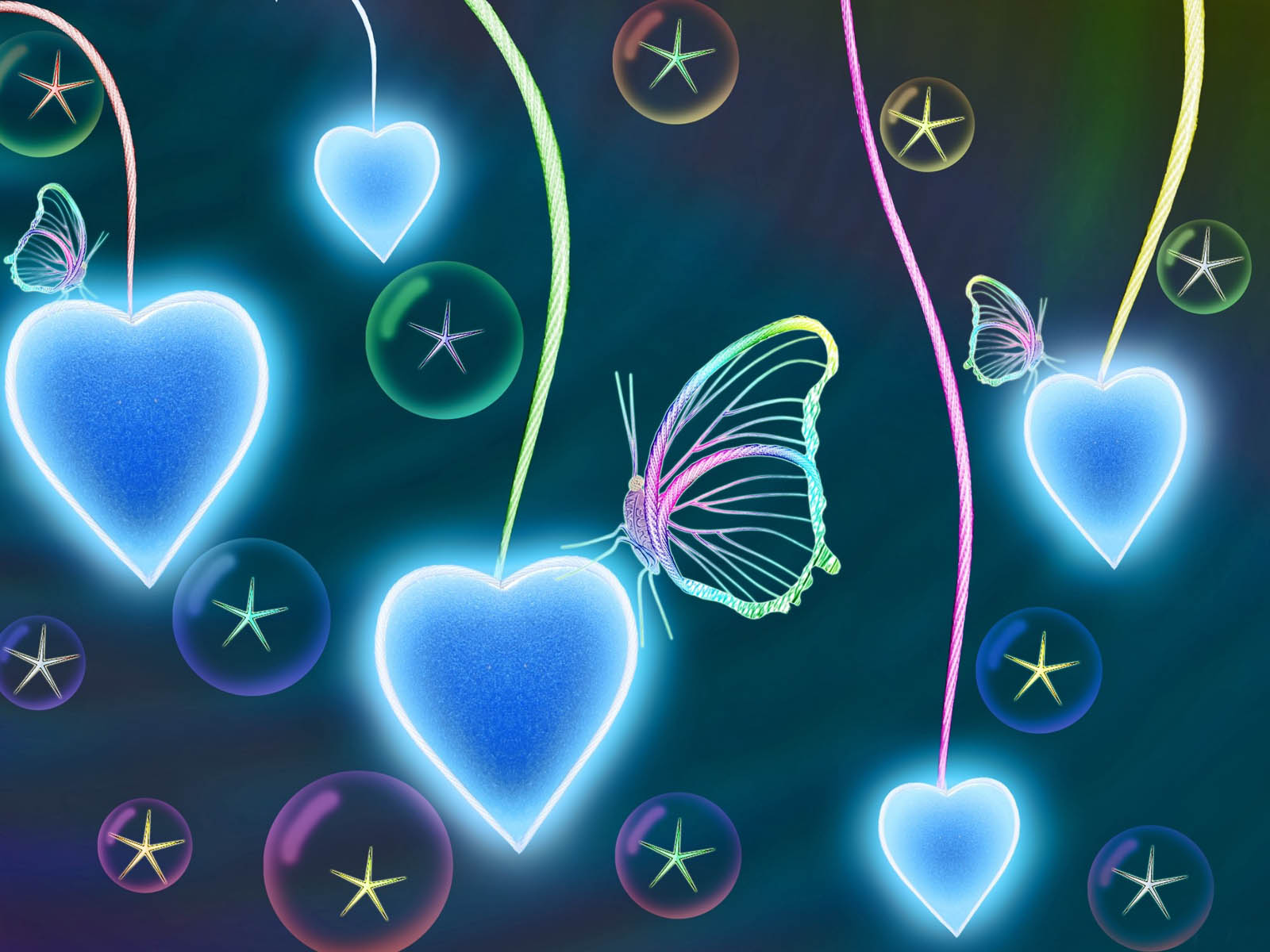 wallpapers: Butterfly Love Wallpapers3d Neon Butterflies