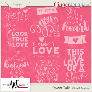 Facebook HOP Freebie, $1 Page Kits, New Word Art!