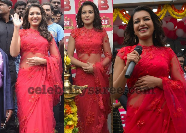Catherine Tresa in Red Saree