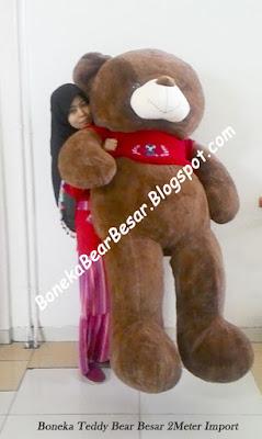 gambar boneka teddy bear ukuran 2 meter