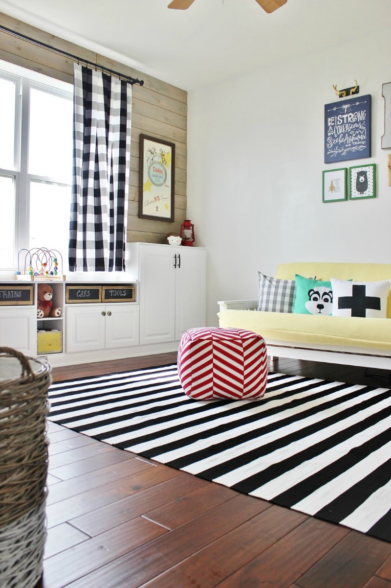 Delightfully Noted Home Tour - Modern Fresh Farmhouse Decorating Ideas - Kids Play Room