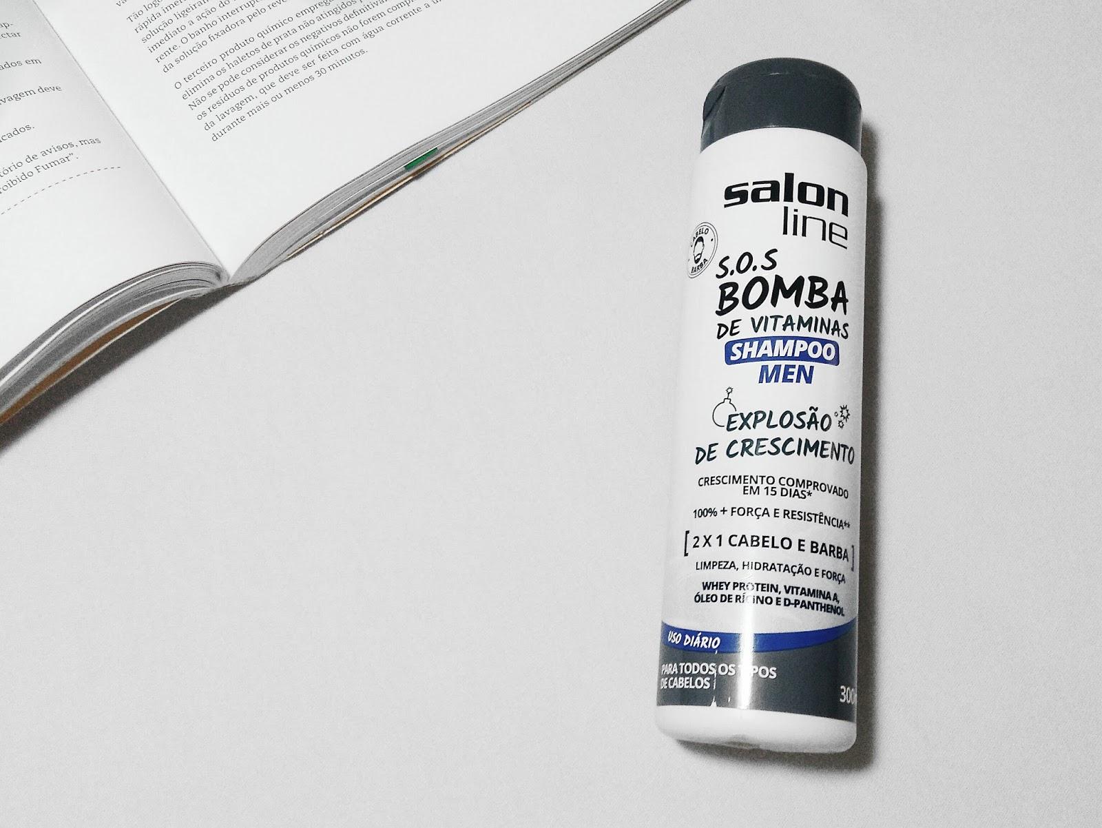 Shampoom Bomba Masculino da Salon line para crescer cabelo e barba