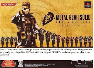 Metal Gear Solid: Portable Ops Iso File PPSSPP Download for Android