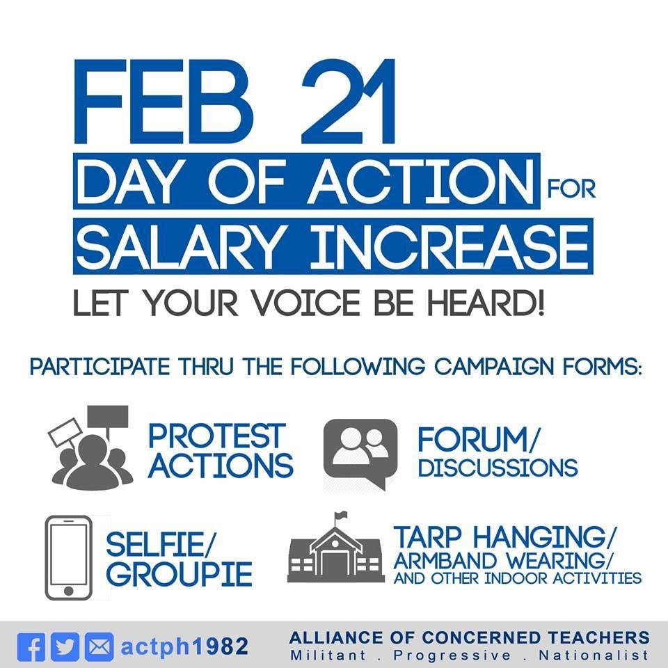 Day of Action for Salary Increase