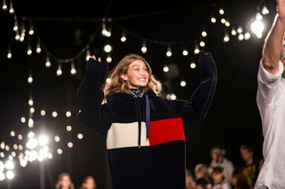 Gigi Hadid on the Tommy Hilfiger runway. Photo: Imaxtree
