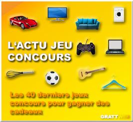 Les 40 derniers jeux concours gratuits, Instant gagnant, tirage au sort, concours créatif...