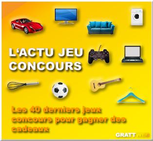 Les 40 derniers jeux concours gratuits, Instant gagnant, tirage au sort, concours créatif...8