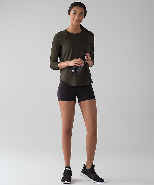 lululemon smooth-stride-ls-olive