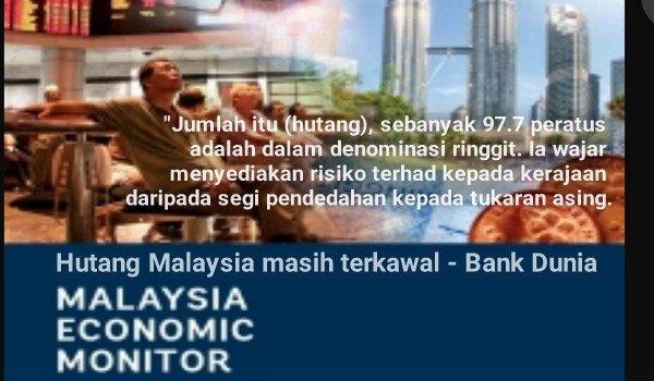 Hutang Malaysia masih terkawal - Bank Dunia