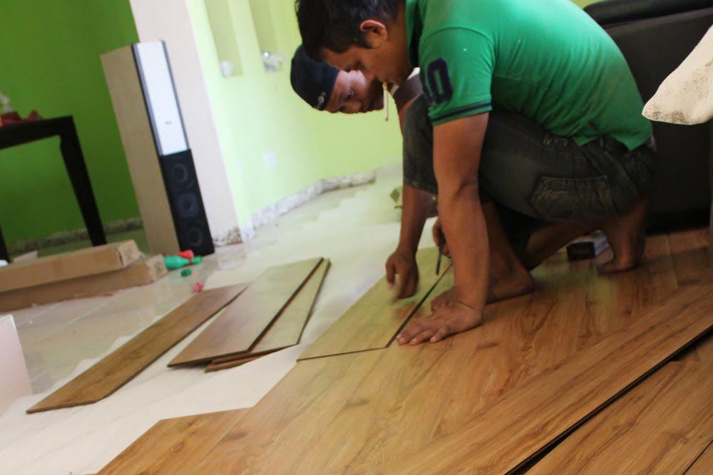 Pemasangan Lantai Kayu Lamina di Rawang