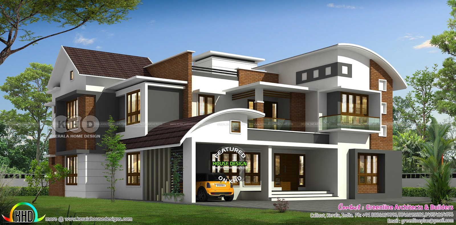 3715 sq-ft 5 bedroom contemporary house - Kerala home ...