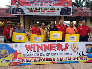 Turnamen Kapolres Binjai Resmi Ditutup, Kesebelasan Bintang Muda Fc Raih Juara Pertama Cab Sepakbola