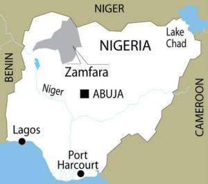 Map of Zamfara State Northwest Nigeria