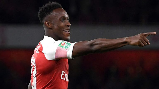 Danny Welbeck celebration for Arsenal