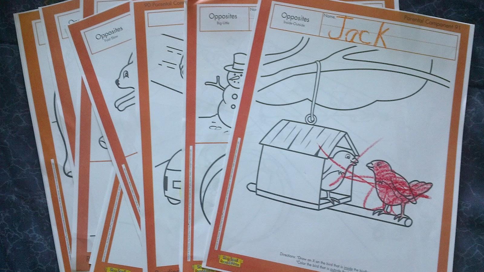 Preschooler Busy Hands Preschool Worksheets Opposites
