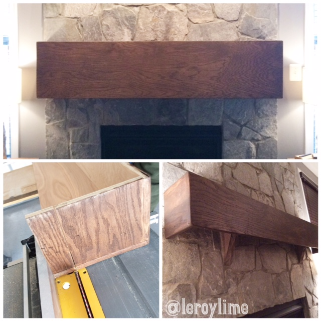 Wooden DIY Mantle Project - LeroyLime