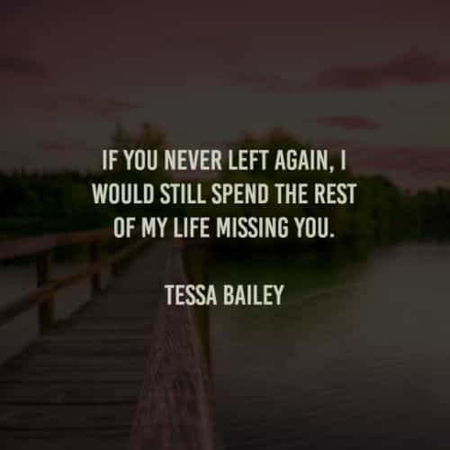 Quotes on missing her
