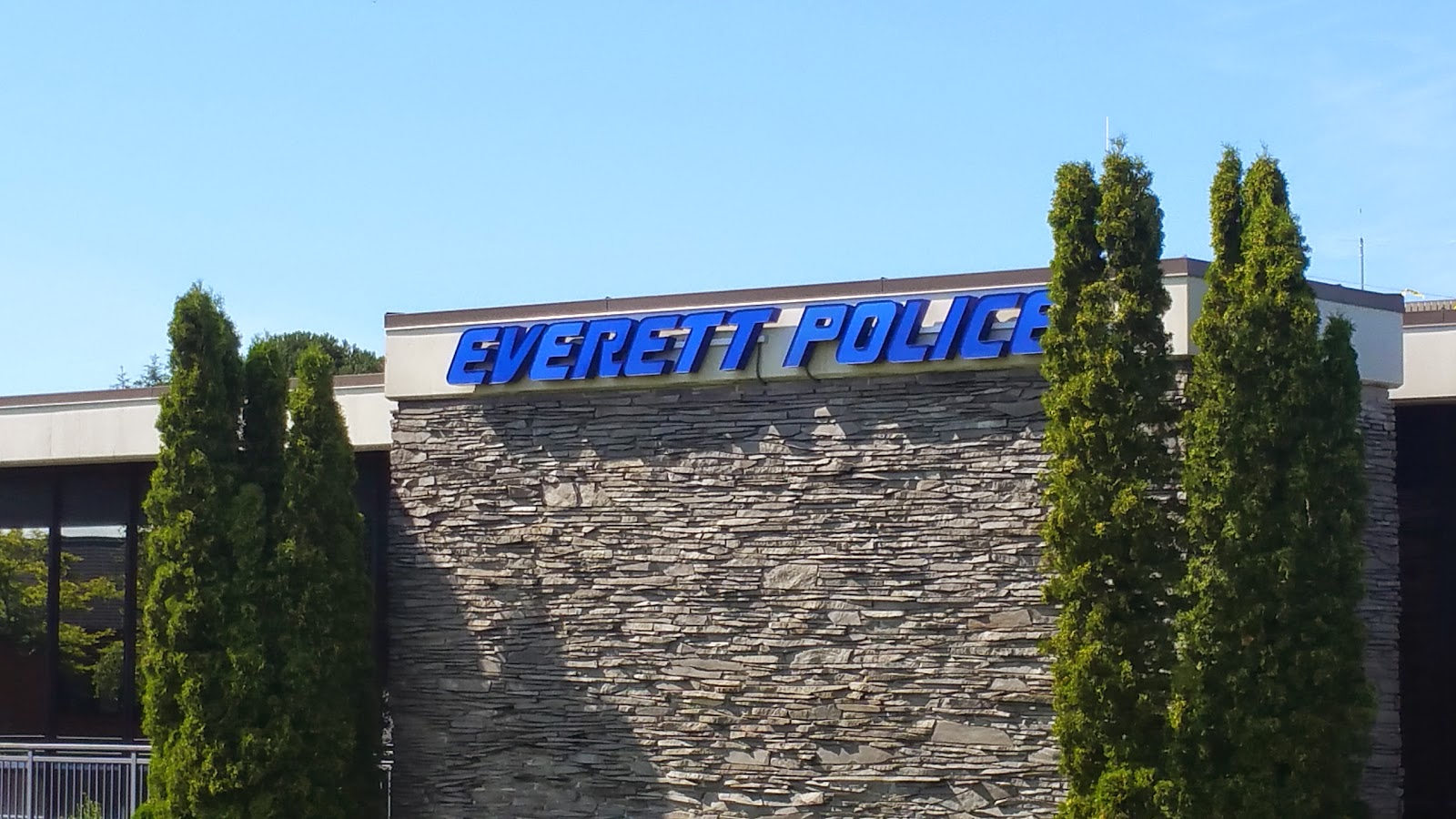 Everett Police station use's a question able font.