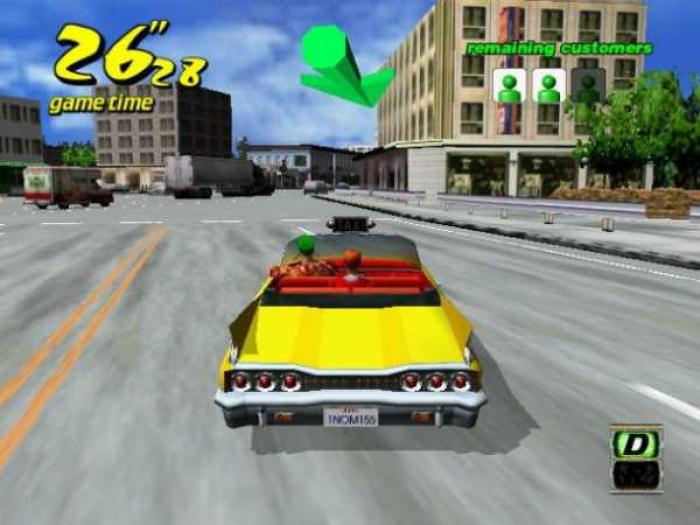 Crazy driver 3d taxi oyunu