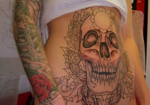 stomach tattoos for men writing as women