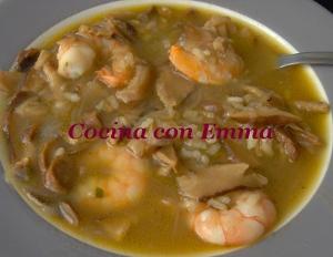 Sopa de shiitake y sabor a mar