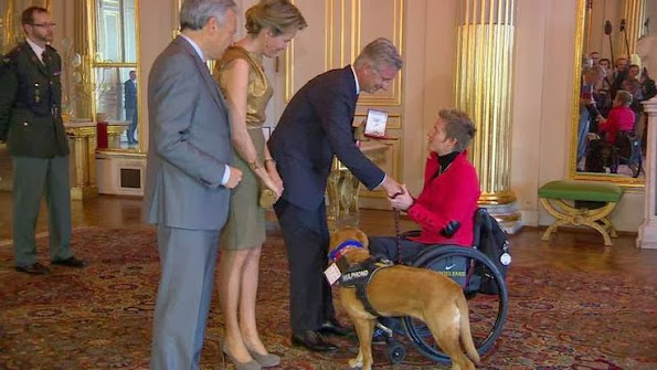 Queen Mathilde hosted a ceremony dedicated to people who received a nobility title in 2013
