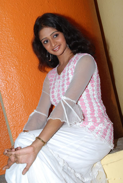 sandeepthi in white dress hot images