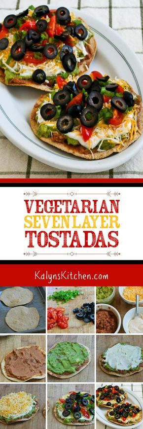 VEGETARIAN SEVEN-LAYER TOSTADAS