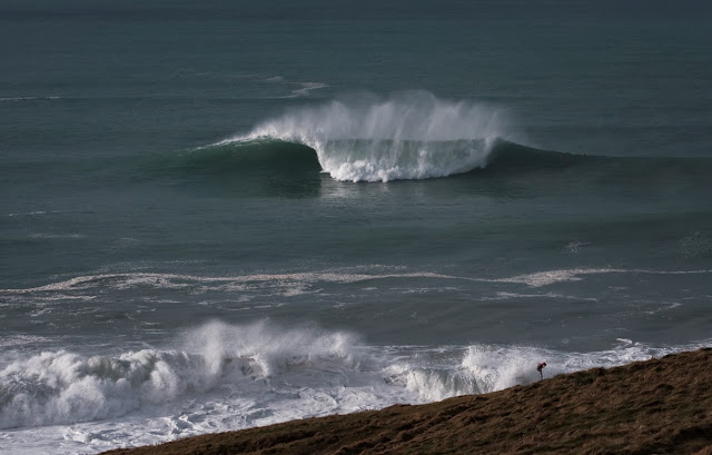 Fistral Beach, Cribber, Big wave