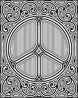peace symbol coloring page- available in jpg and transparent png versions