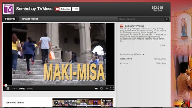 Online Simba: Catholic Mass via YouTube ~ HAYPINAS ORG: OVERSEAS