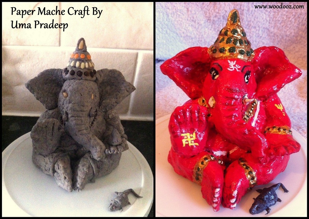 A Do It Yourself Idol Of Lord Ganesha Using Paper Mache Indian