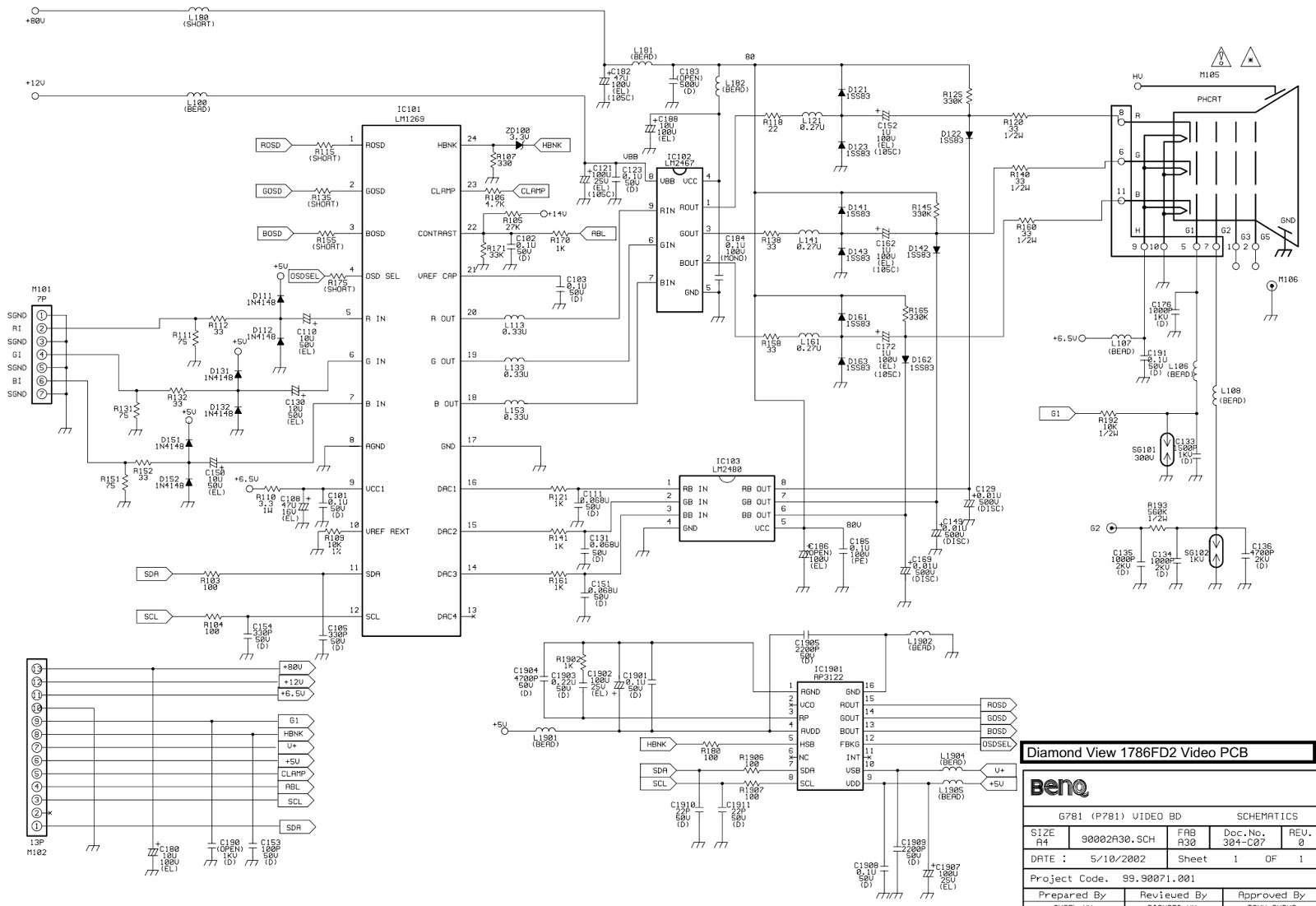 benq wiring diagram motorcycle schematic images of benq wiring diagram benq mitsubishi 1786fd2 diamond view crt monitor circuit benq