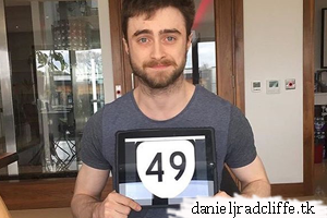 Daniel Radcliffe sends in photo to support United49